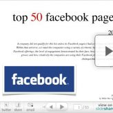 Top 50 des pages Facebook (en HTML)